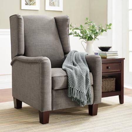 walmart living room chairs neutral paint colors for rooms better homes and gardens grayson wingback pushback recliner com