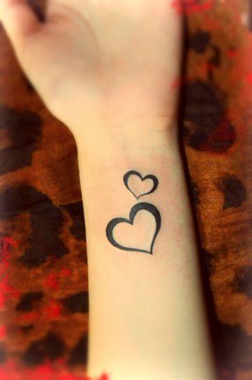 Tattoo Ideas Central Heart Tattoo Wrist Two Hearts Tattoo