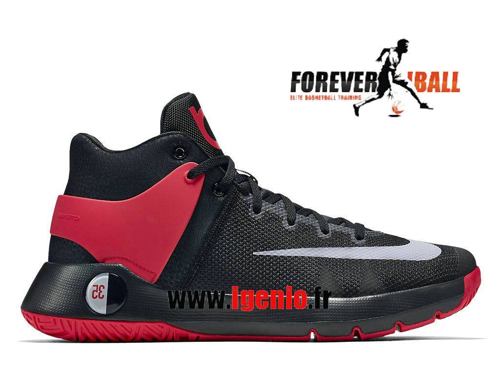 free shipping bbf0c 3c8d9 Nike KD Trey 5 IV - Chaussures de BasketBall Pas Cher Homme Noir Rouge  844573
