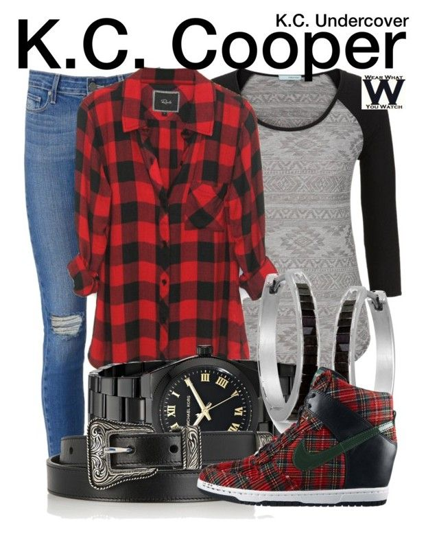 """""""K.C. Undercover"""" by wearwhatyouwatch ❤ liked on Polyvore featuring Paige Denim, maurices, Michael Kors, Yves Saint Laurent, NIKE, television and wearwhatyouwatch"""