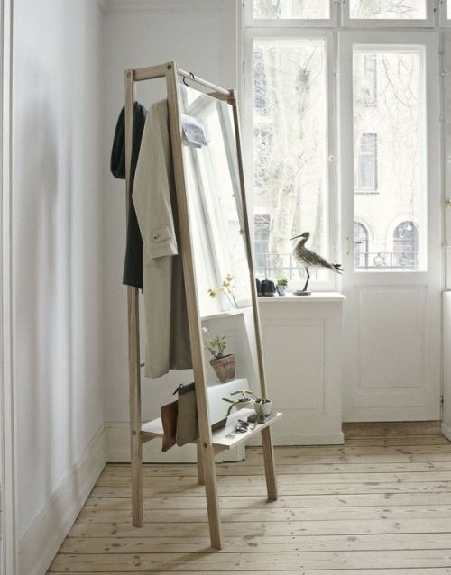 spiegel met kledingrek - interieur designs | Pinterest - Spiegel ...