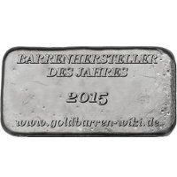 Silberbarren - Hersteller des Jahres 2015 - PAMP SA