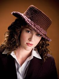 "Free pattern for ""Classy Continental Hat""! - crochet so chic!"