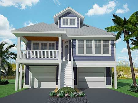 Plan 15061nc Narrow Lot Low Country Home Plan In 2021 Coastal House Plans Stilt House Plans Beach House Plans