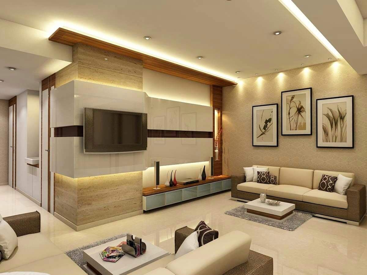 3bhk Interior Design Package Mumbai Interior Design For 3bhk Flat In Thane Tv Unit Interior Design Living Room Design Modern Drawing Room Interior