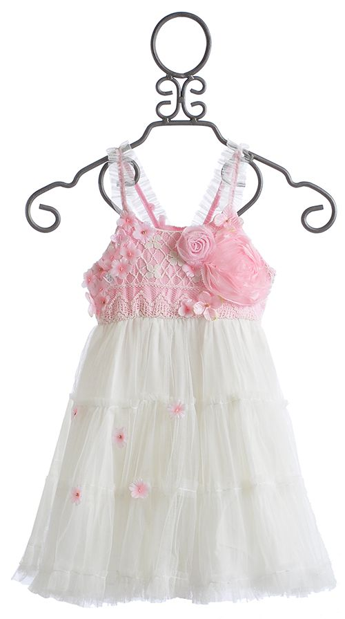 Le Pink Princess Pink Rose Girls Dress $88.00   KCW: spring   Pinterest