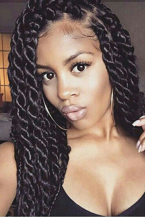 16 Senegalese Twists To Try Right Now Thefashionspot Twist Braid Hairstyles Twist Hairstyles Natural Hair Styles