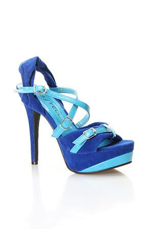 Aubrey-02 High Heel Sandal In Electric Blue And Light Blue