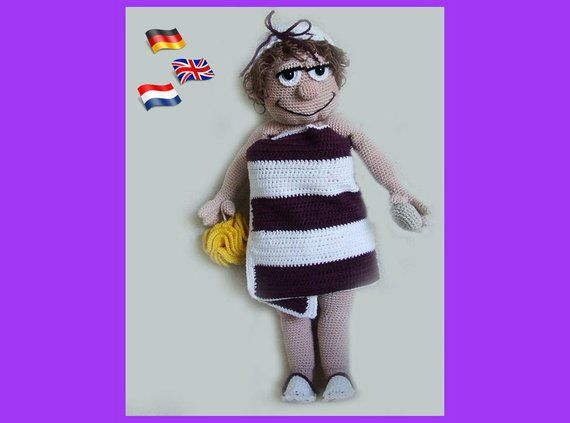 Pretty Madeleine Crochet Pattern Crochet Doll Amigurimi