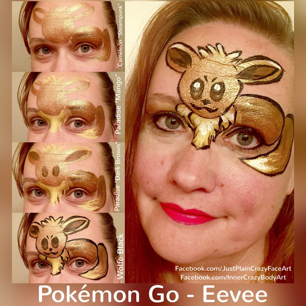 Uncategorized Face Painting Patterns go eevee step by face paint design artist marie sulcoski