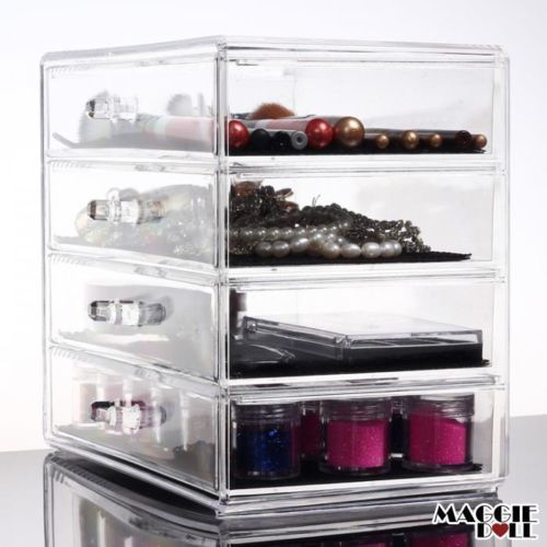 Acrylic-Makeup-Make-Up-Lipstick-Display-Stand-Holder-Cosmetic-Storage-4-tier