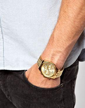 8dc52d539cff Michael Kors MK8281 Lexington gold chronograph watch