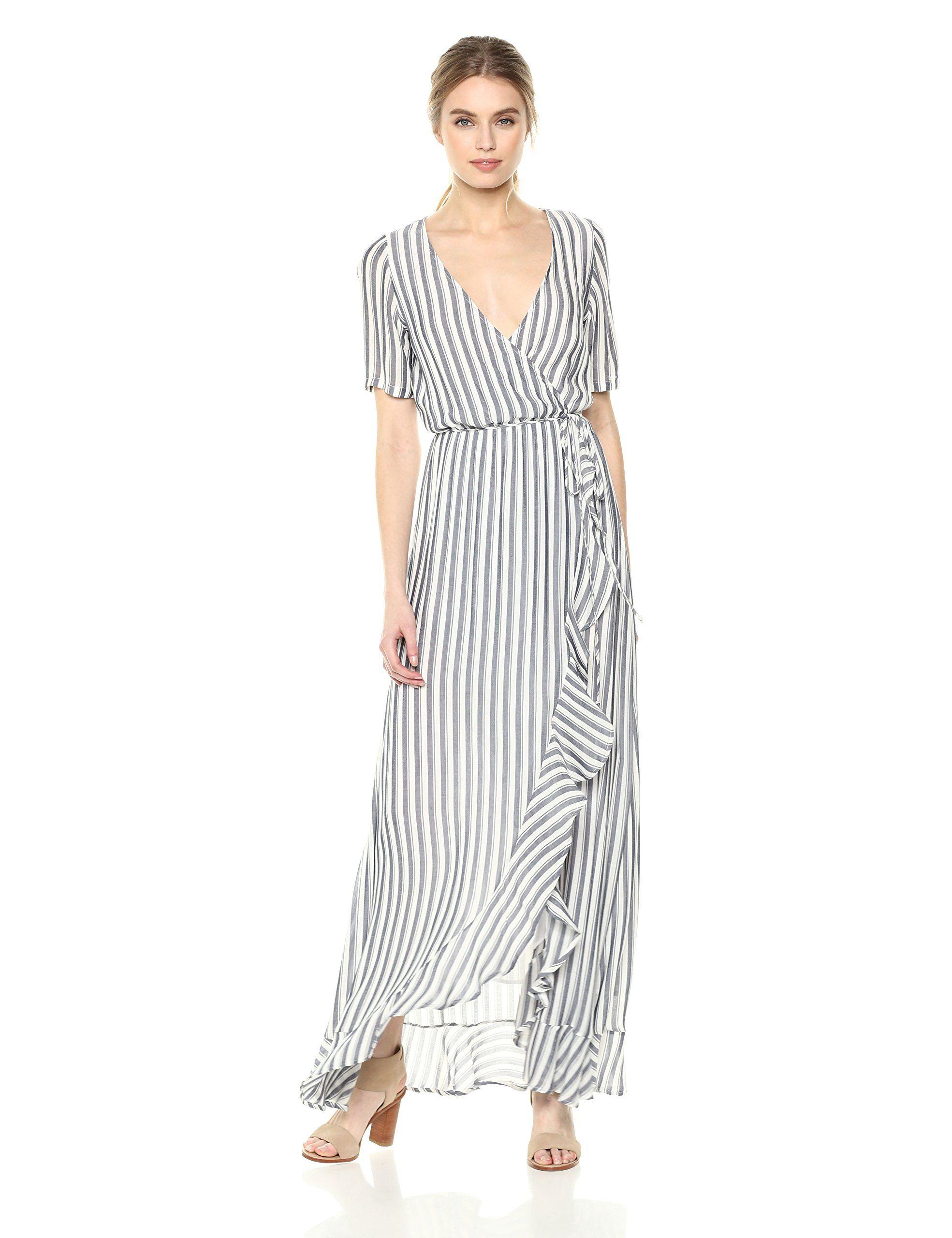 1d3b1c3e33e89 Rachel Pally Womens Rayon Wrap Dress Blue/White Stripe S ** Details ...