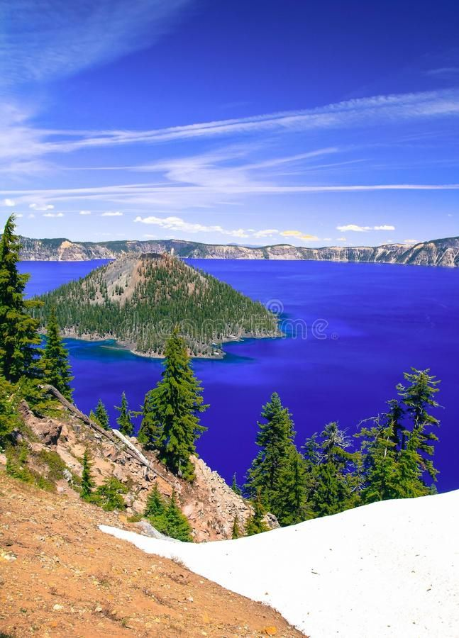 Crater Lake stock photo. Image of blue, lake, crater - 91147310