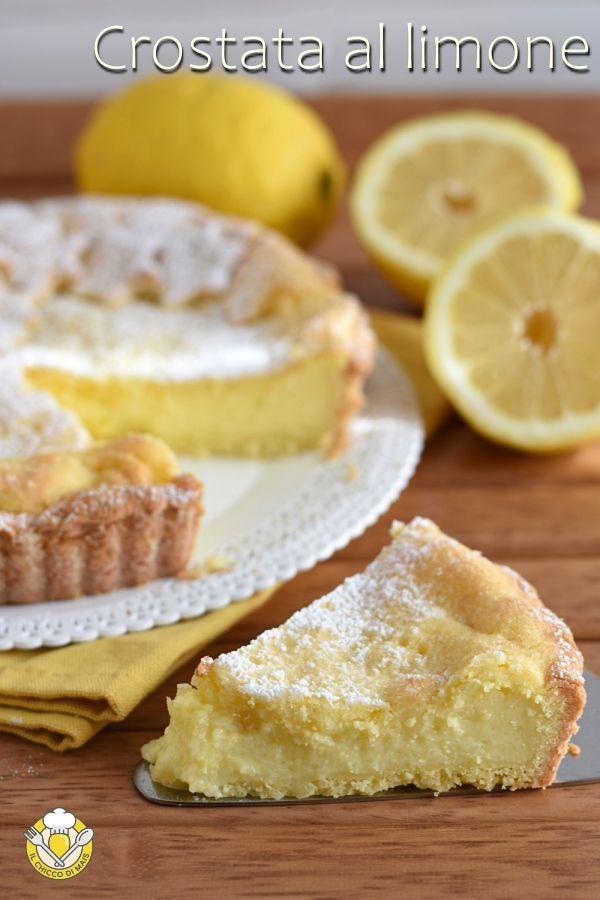 Crostata al limone Crostata al limone: un guscio di friabile pasta frolla che racchiude un ripieno di morbida crema al limone. Ideale come dessert da fine pasto o dolce da merenda, perfetta anche con farine senza glutine! Lemon pie recipe