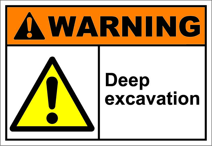 Deep Excavation 1 64 Signs Cleaning Chemicals Instant Art Signs