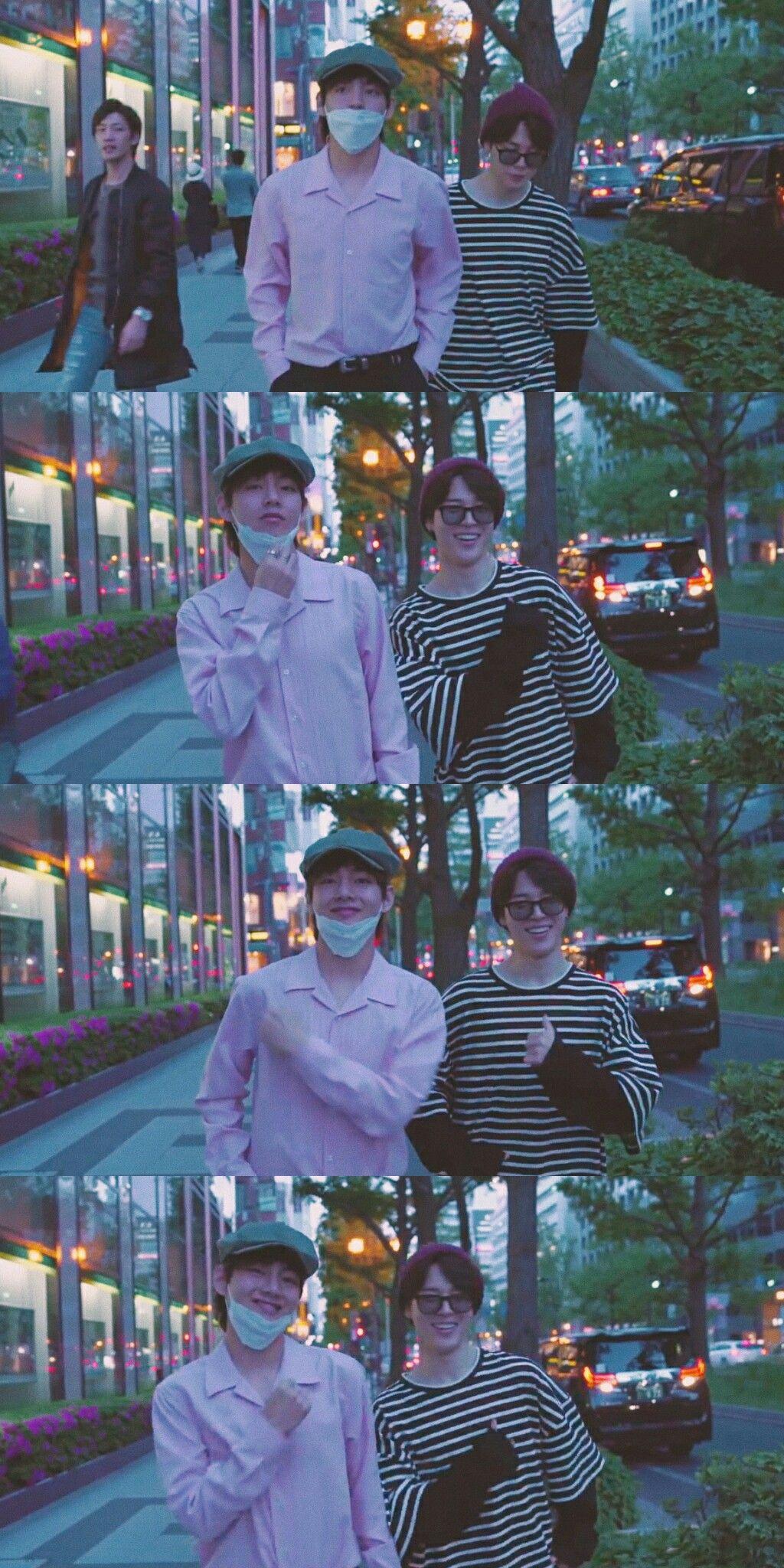 G.C.F. in Osaka JIMIN & V☁ (collage by Kookie۰ ) Kim