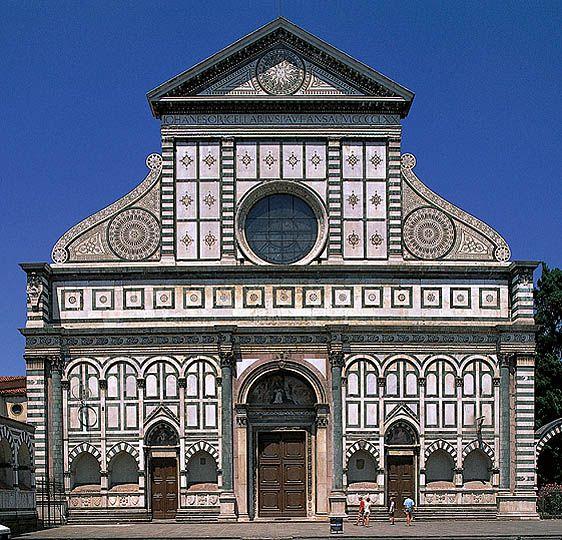 Fachada de la iglesia de santa mar a novella en florencia for Architecture quattrocento