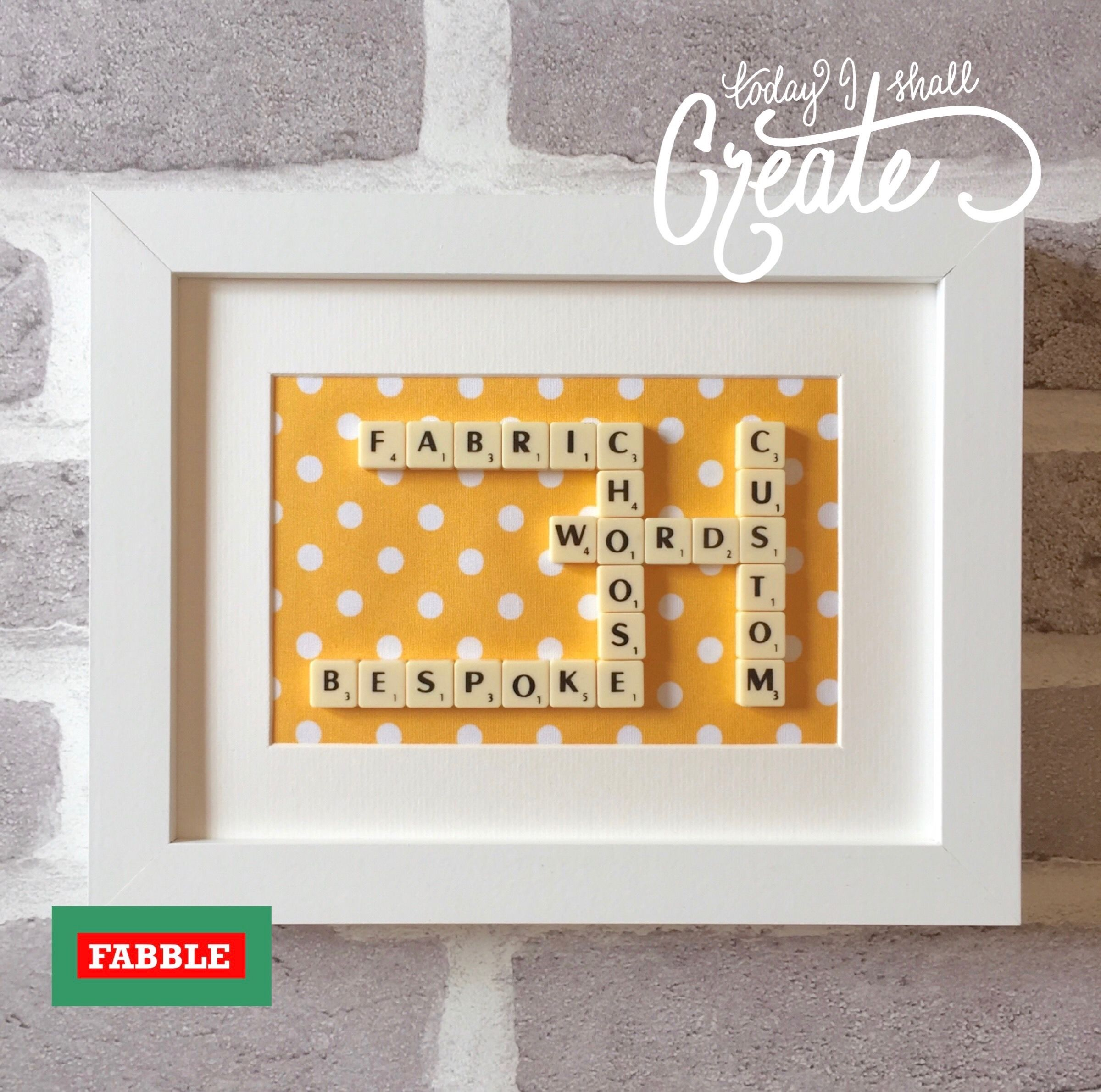 Pin by Scrabble frames by Fabble on Etsy on Scrabble family name ...