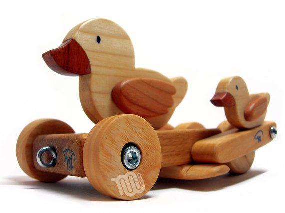 Jouet en bois canard et canetons par WoodHandcraft sur Etsy