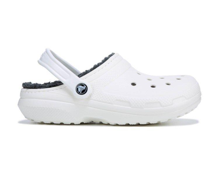 Crocs Classic Fuzz Lined Clog White