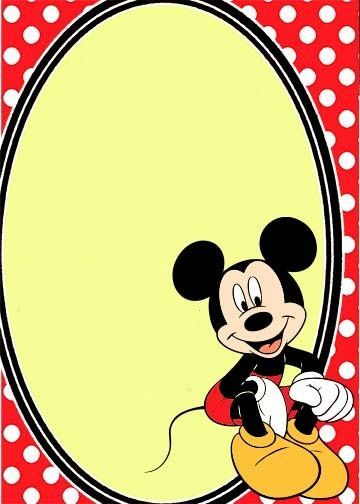 Mickey Mouse Cards Free Printable
