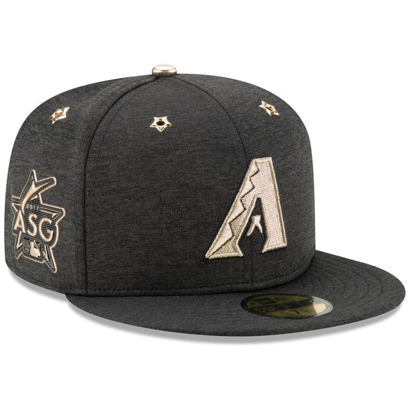 3e91f2d9970 Arizona Diamondbacks New Era 2017 MLB All-Star Game Side Patch 59FIFTY  Fitted Hat - Heathered Black