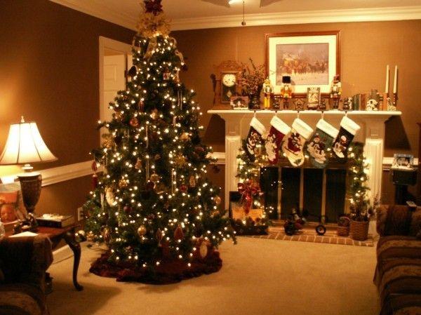 Weihnachtsdeko Wohnzimmer ~ Edler raum weihnachtskamin weihnachtsdeko weihnachten