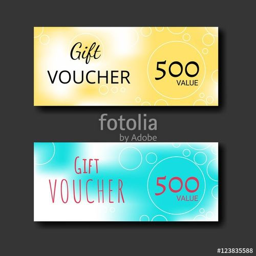 Vector Gift voucher certificate coupon template with colorful and - business coupon template