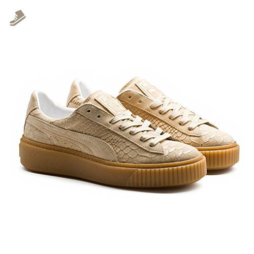 bd181672e9129 Puma Platform ExotSkin Wn's Women's Shoes Natural Vachetta/Gold ...