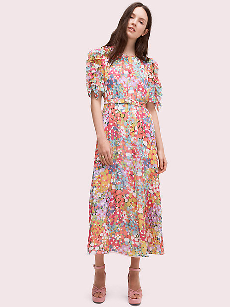 a5c20df7b100f Kate Spade Floral Dots Ruffle Midi Dress, Size 10 in 2019 | Products ...