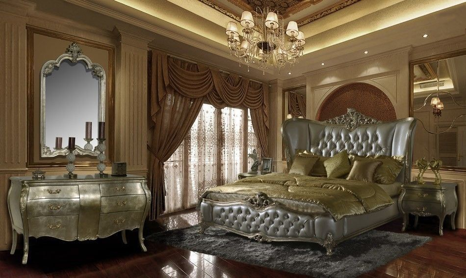 Chic Classic Royal Style Bedroom Set King Size #HomeyDesign