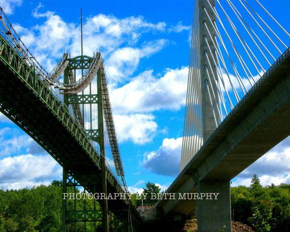 Old and new bridges at the Penobscot Narrows