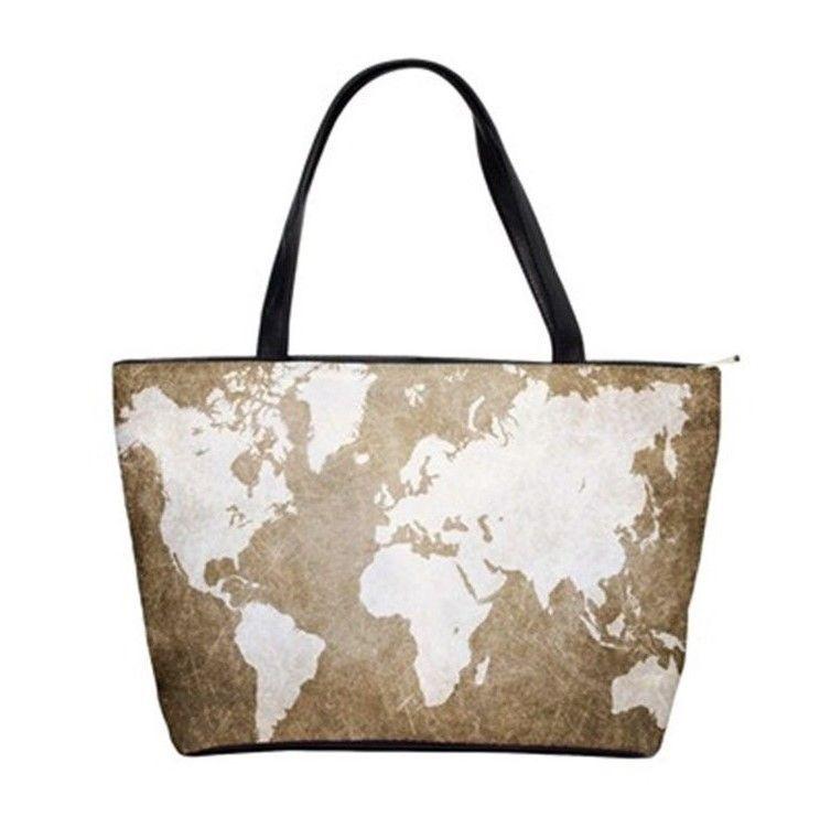 Shoulder handbag purse bag design 56 world map brown sepia ldumas shoulder handbag purse bag design 56 world map brown sepia ldumas unbranded gumiabroncs Images