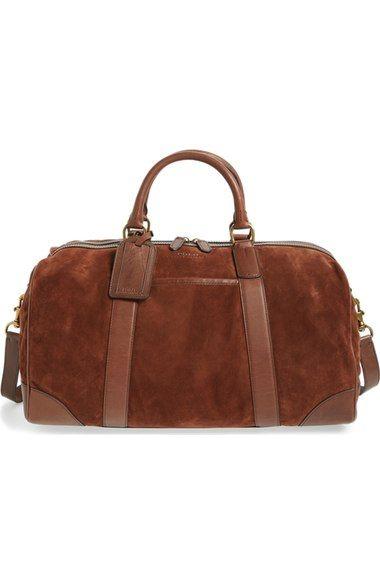 POLO RALPH LAUREN Suede Duffel Bag.  poloralphlauren  bags  canvas  lining   shoulder bags  suede  hand bags  cotton   084cafcae78ea