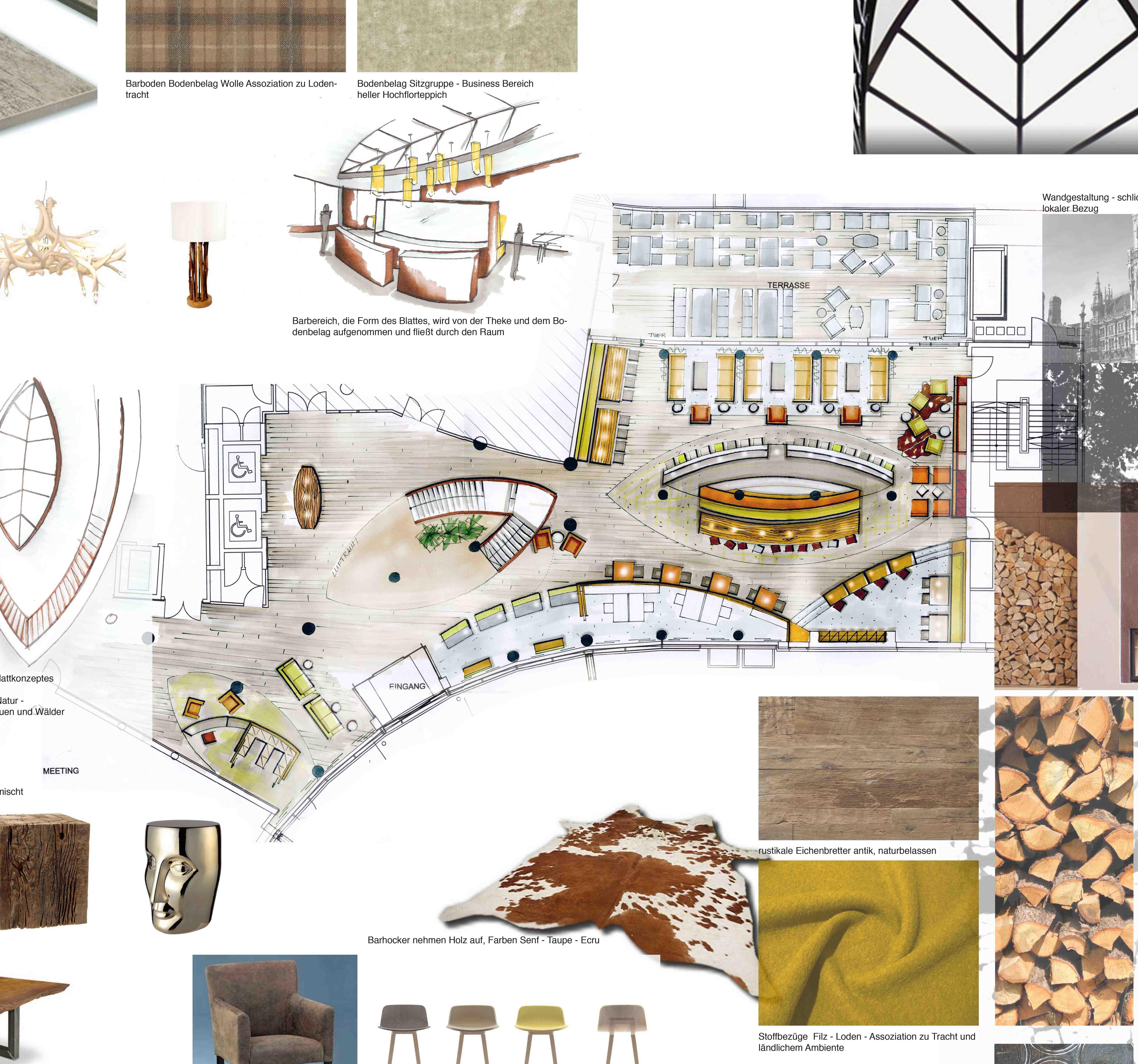 Hotel lobby furniture plan - Reimann Interior Hotel Lobby Design Interior Sketches