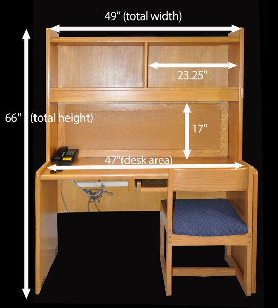 Dimensions on a res hall desk purdue dorms  Google