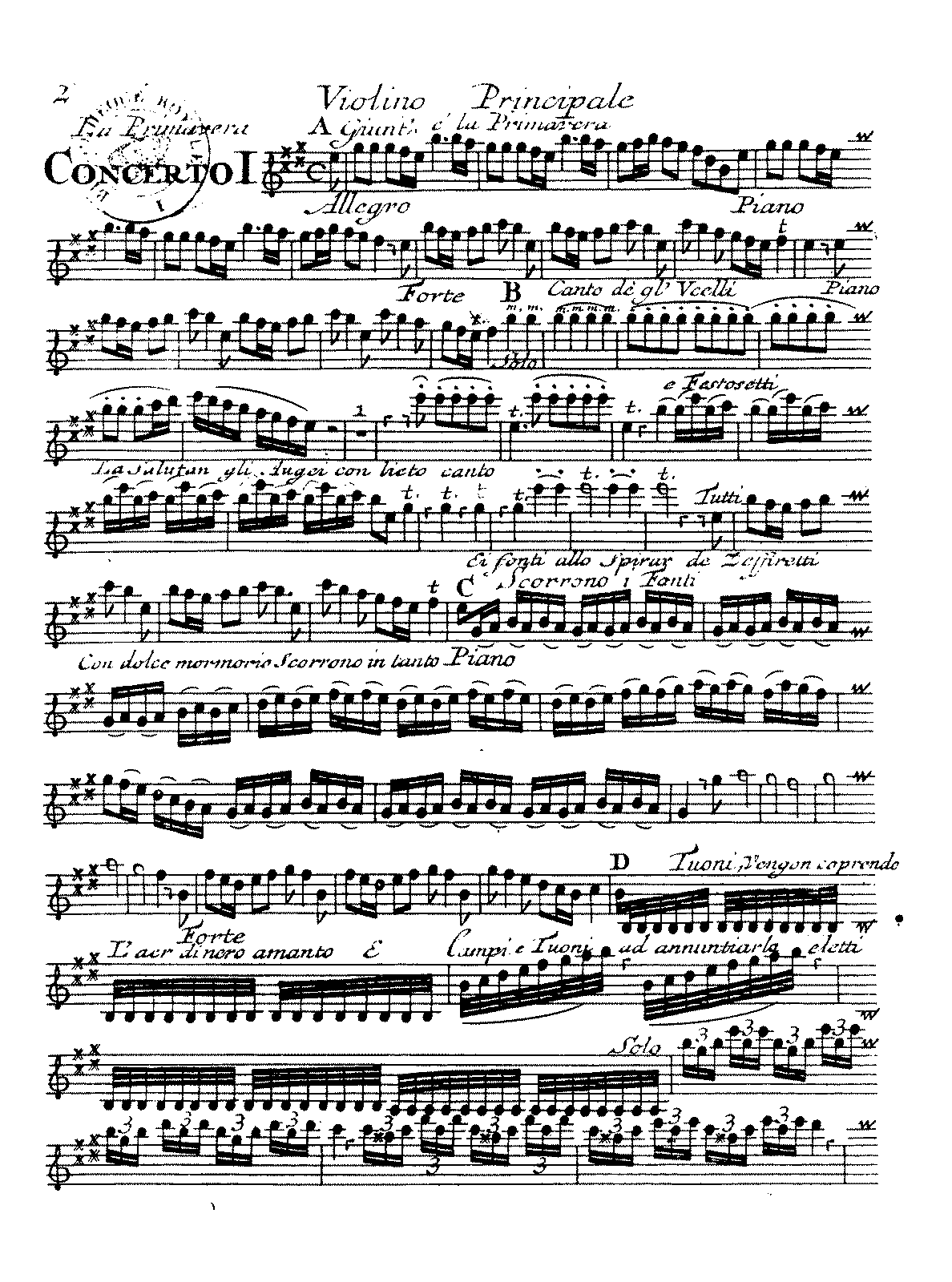 Vivaldi Spring Violin Sheet Music Thats A Bunch Of