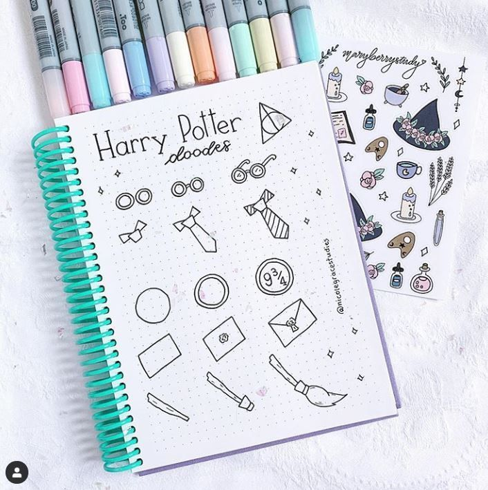 40+ Magical Harry potter bullet journal ideas you need to see! Almost a mess