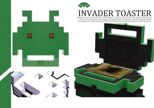 space invaders toaster