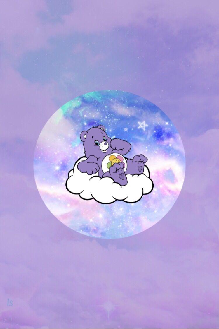 Pin By Soraya Madian On Purple Teddy Bear Bear Wallpaper Cartoon Wallpaper Wallpaper Iphone Cute
