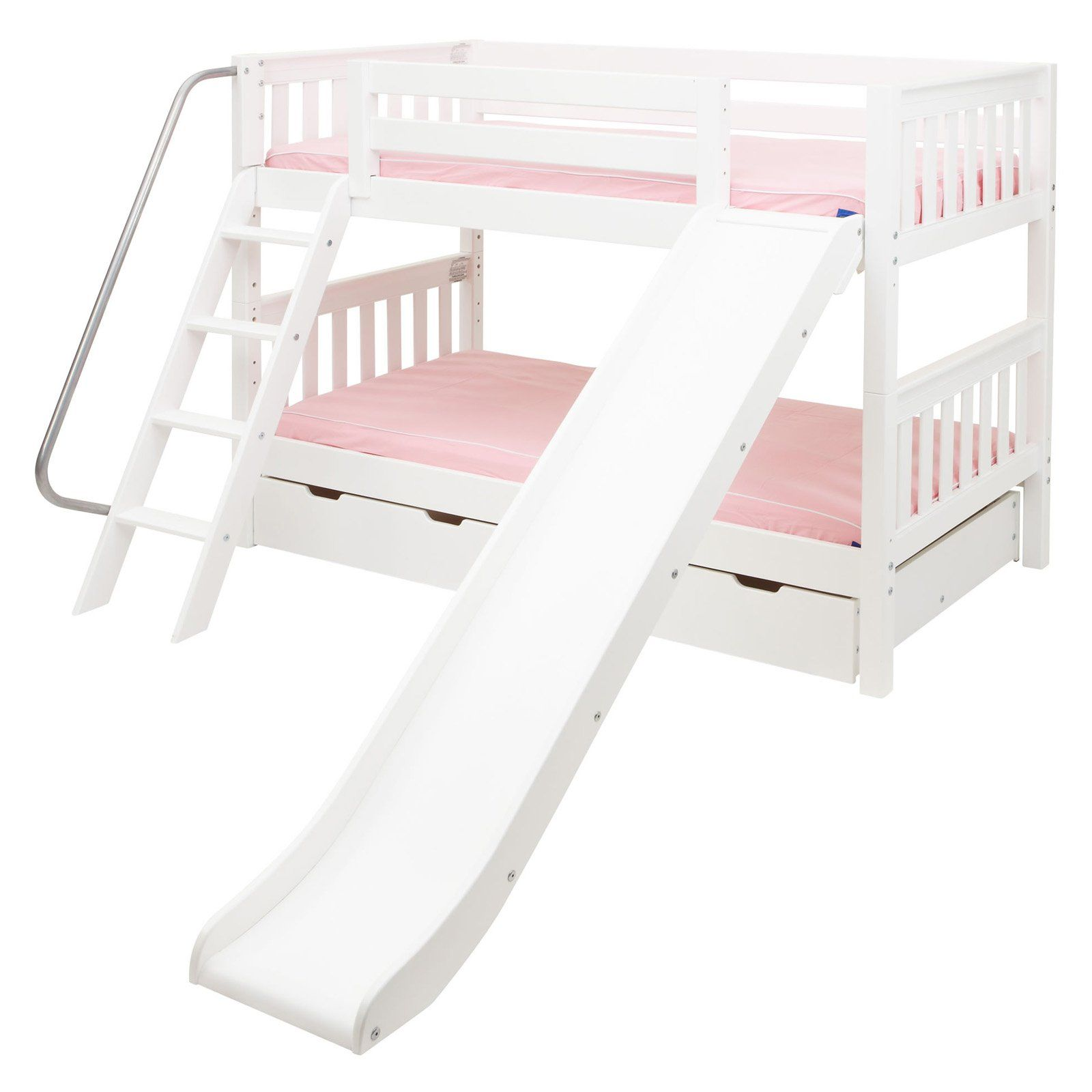 Twin low loft bed with slide  Pin by Foster Bwalya on Kids Rooms  Pinterest  Bunk beds Bed and