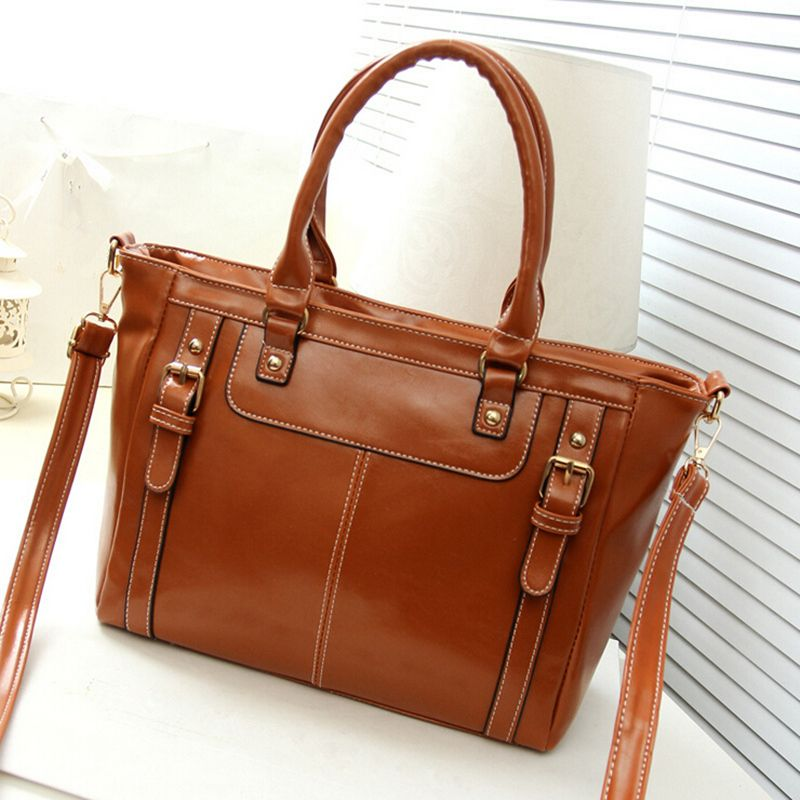 vintage casual luxury leather handbag hotsale women tote ladies ...