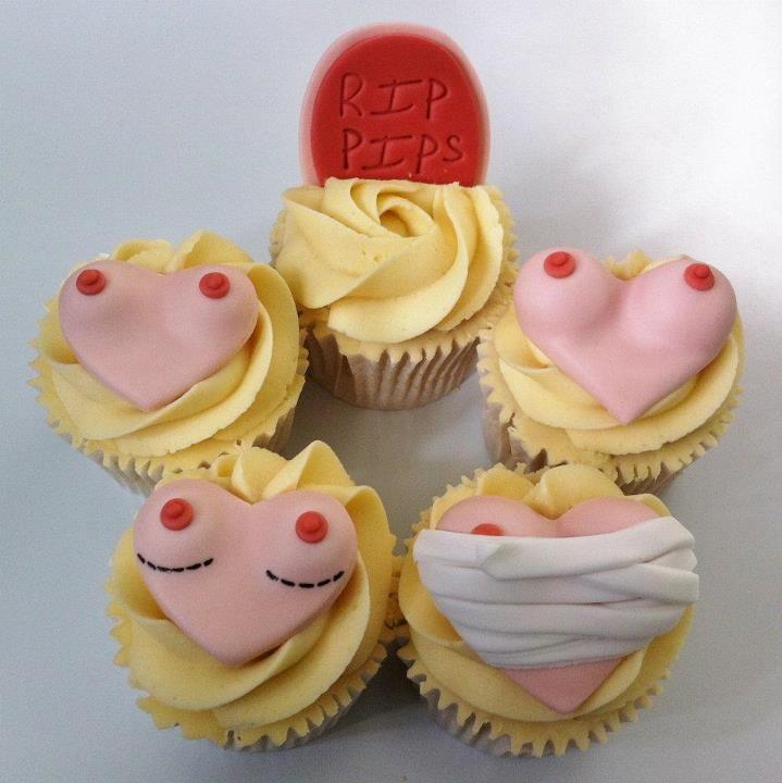 Boob job theme cupcakes lolllll  by THOSE CUPCAKE GIRLS- LONDON!
