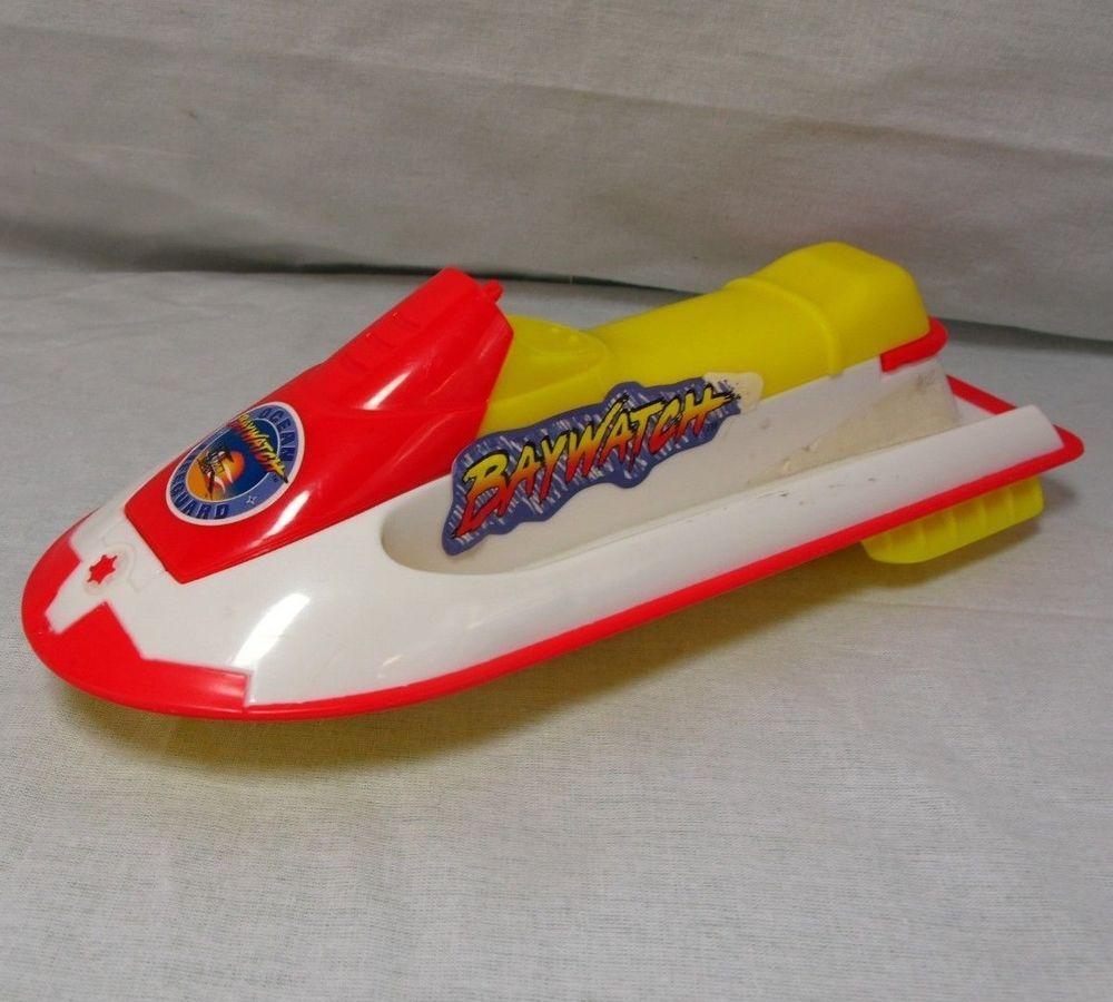 "Baywatch Ocean Lifeguard Jet Ski Vtg Watercraft Plastic Toy 9.5"" Beach Patrol"