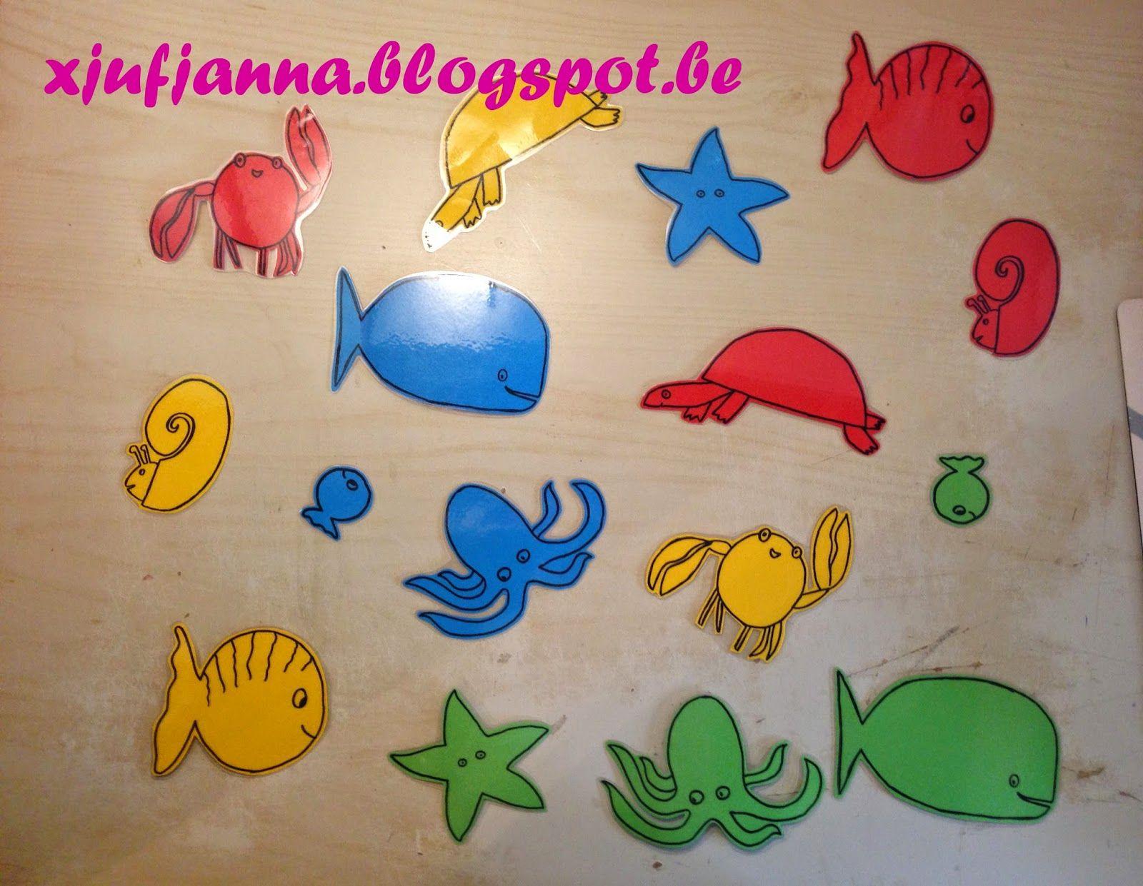 Juf Janna Kleuren Vissen Thema