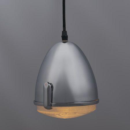 Lámpara colgante ZUNDAPP cromo #kitsch #arte #decoración