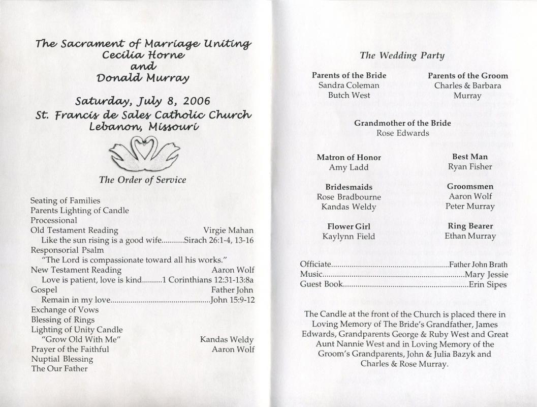 example wedding programs template wedding programs wedding