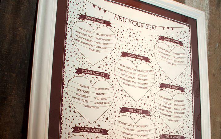 Christmas themed wedding seating plan   Seating plan wedding, Wedding themes winter, Bespoke ...