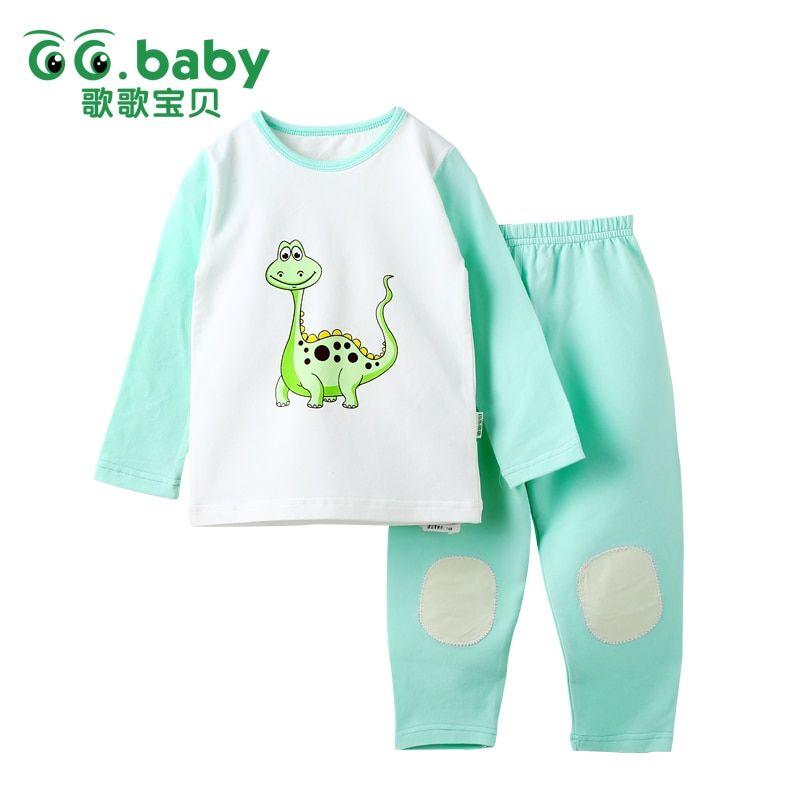 31b690b950a9 Children s Girls Pajamas Dinosaur Clothes Baby Boy Pajama Cotton ...